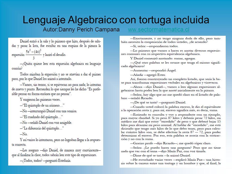 Lenguaje Algebraico con tortuga incluida Autor:Danny Perich Campana ww