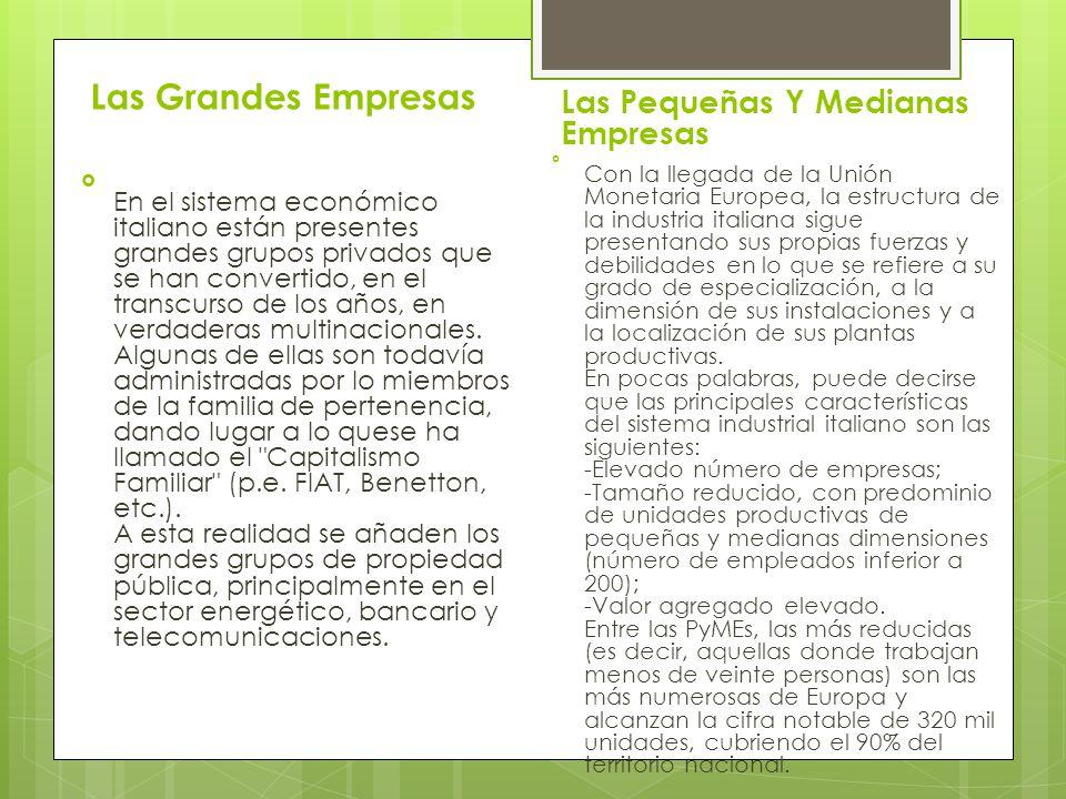 Las Grandes Empresas Las Pequeñas Y Medianas Empresas