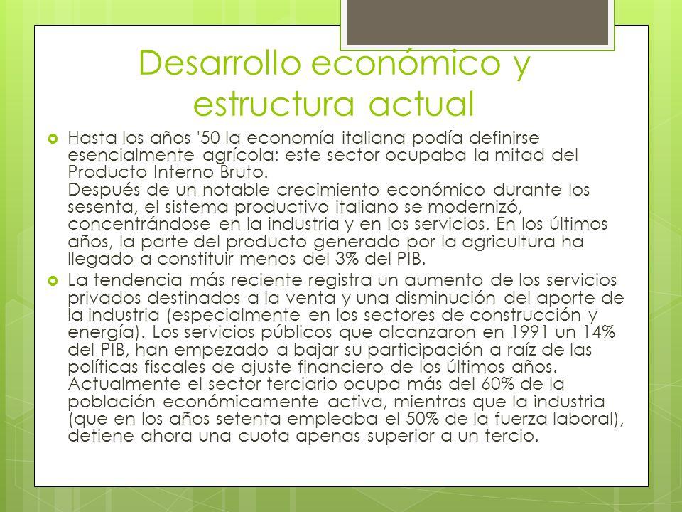 Desarrollo económico y estructura actual
