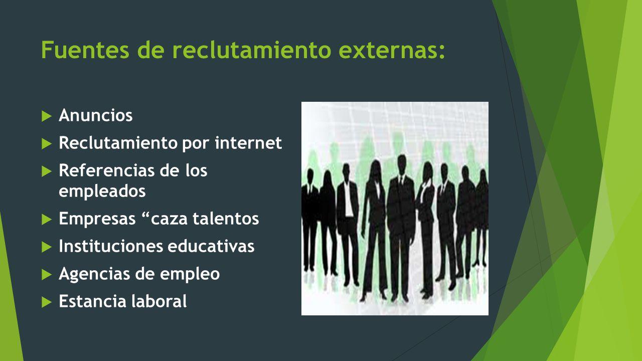 Reclutamiento del personal ppt descargar for Senar la demanda de empleo por internet