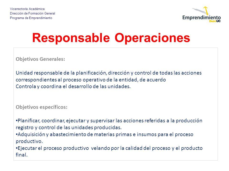Responsable Operaciones