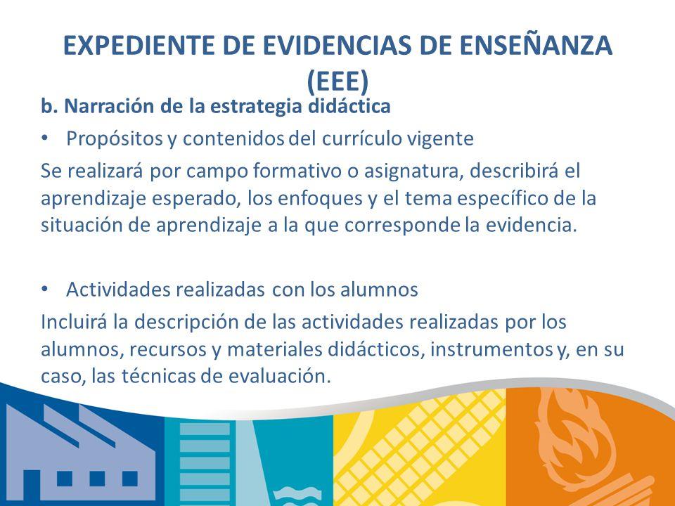 EXPEDIENTE DE EVIDENCIAS DE ENSEÑANZA (EEE)