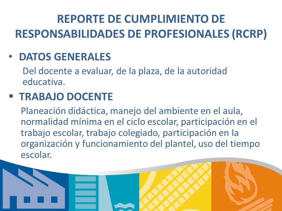 REPORTE DE CUMPLIMIENTO DE RESPONSABILIDADES DE PROFESIONALES (RCRP)