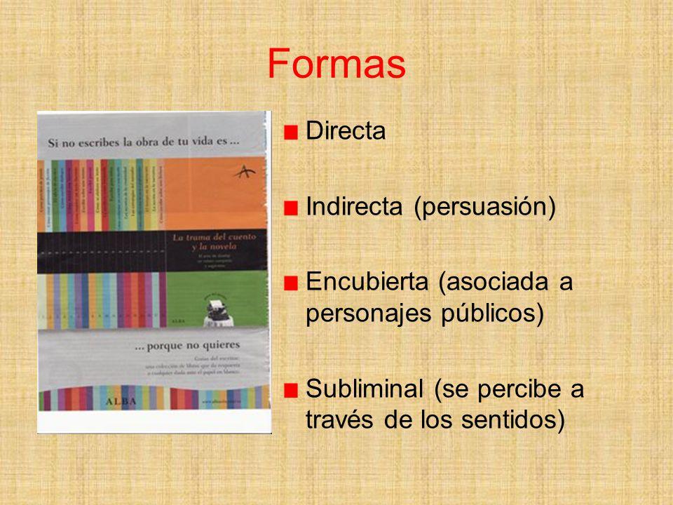 Formas Directa Indirecta (persuasión)