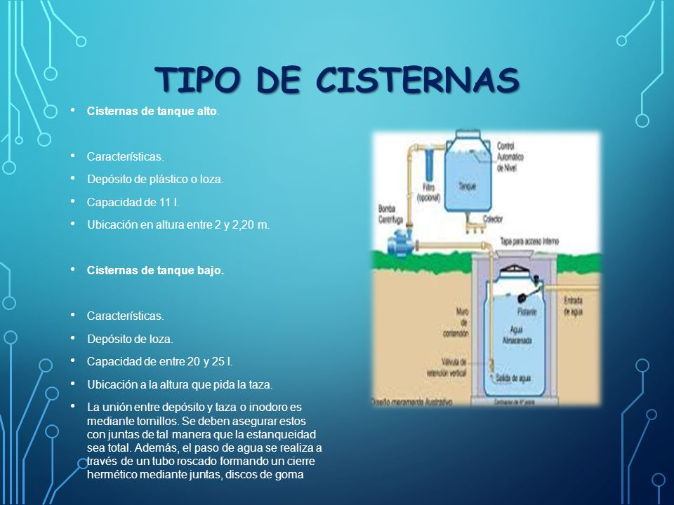 Trabajo no 1 potabilizacion del agua y cisterna ppt for Construccion de tanques para peces