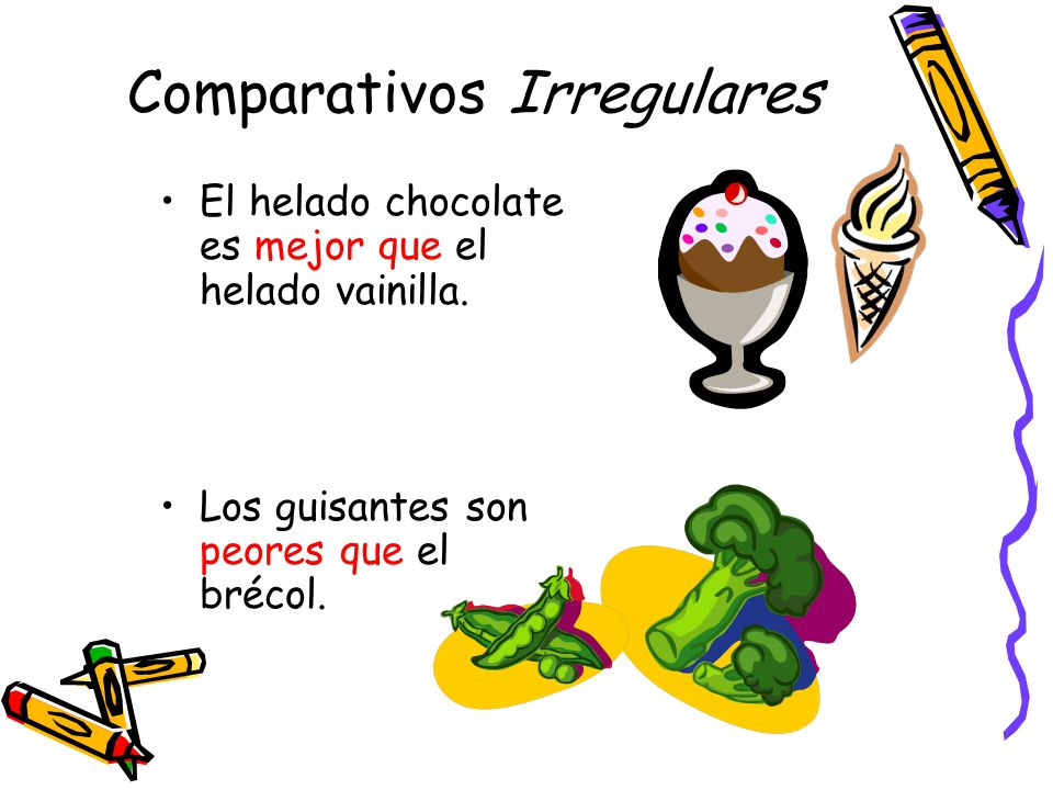 Comparativos Irregulares
