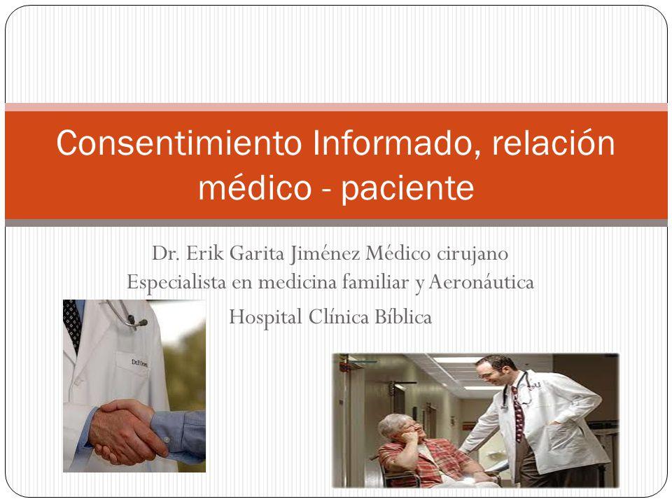 Consentimiento Informado, relación médico - paciente