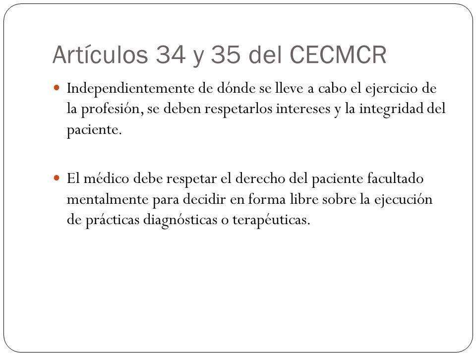 Artículos 34 y 35 del CECMCR