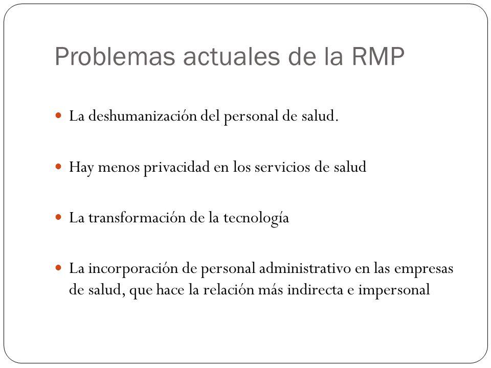 Problemas actuales de la RMP
