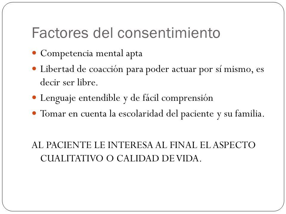Factores del consentimiento