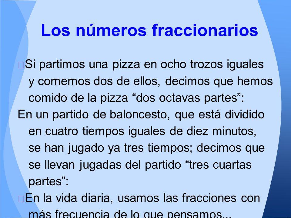 Los números fraccionarios