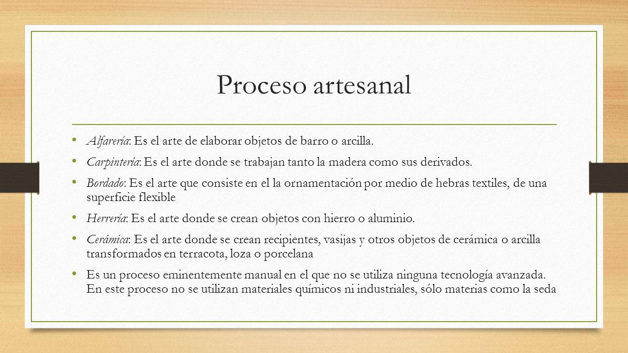 Procesos Productivos Artesanales Ppt Descargar