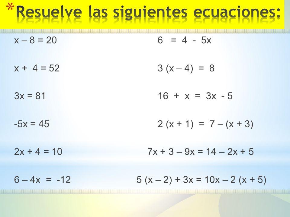 Ecuaciones. - ppt descargar