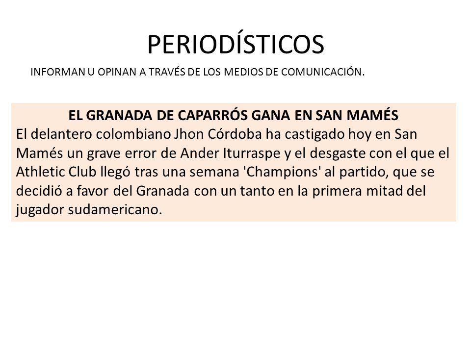EL GRANADA DE CAPARRÓS GANA EN SAN MAMÉS