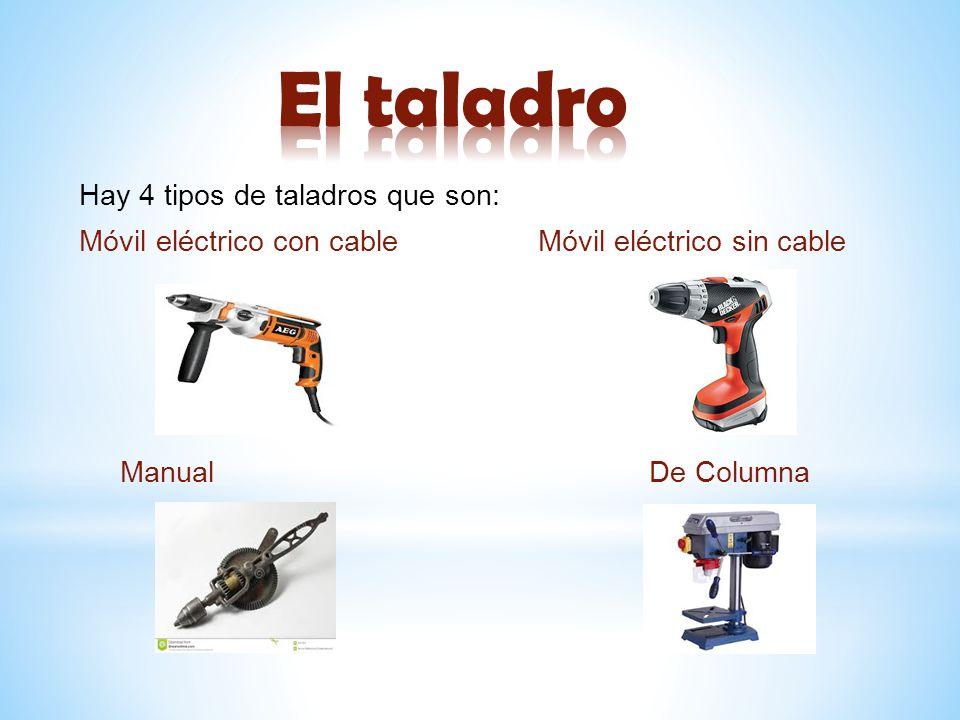 Las maquinas y herramientas en el taller ppt descargar for Taladro electrico sin cable