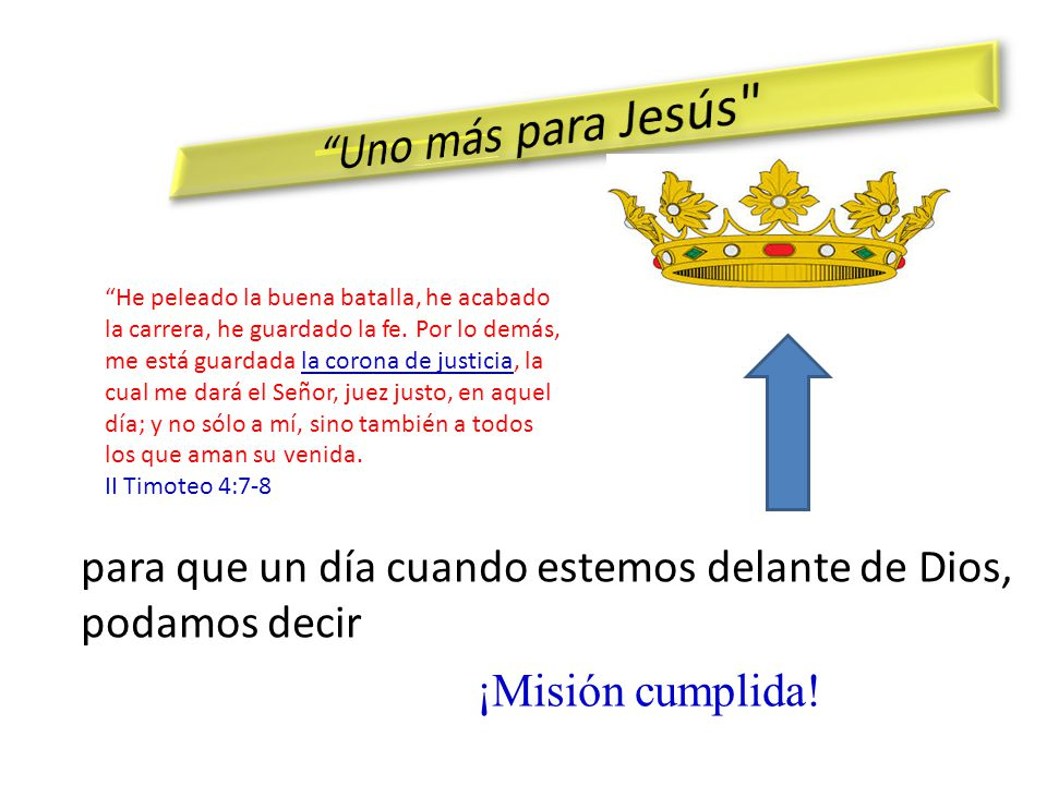 Uno más para Jesús