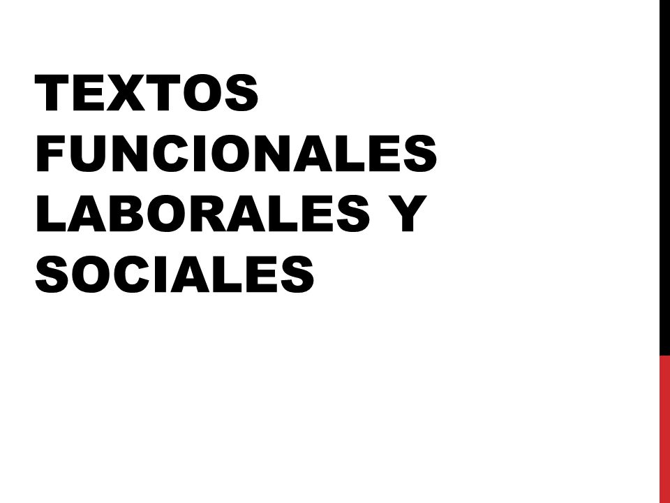 TEXTOS FUNCIONALES LABORALES Y SOCIALES