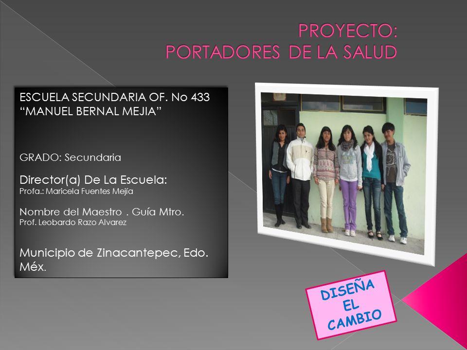 PROYECTO: PORTADORES DE LA SALUD