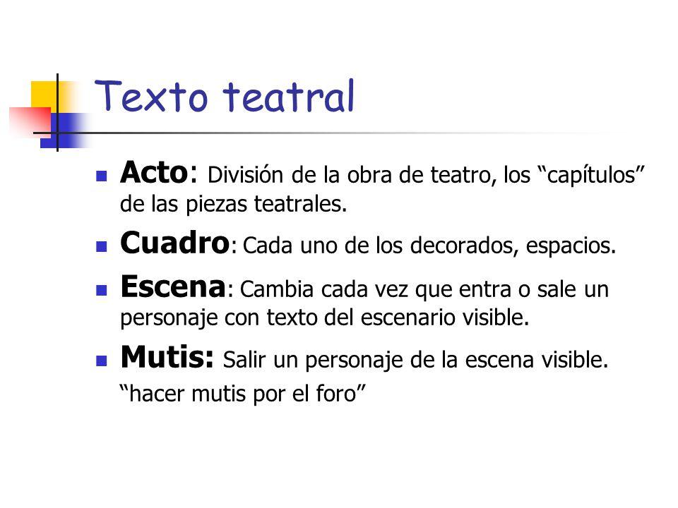 El texto teatral 1 eso ppt video online descargar for La cocina obra de teatro