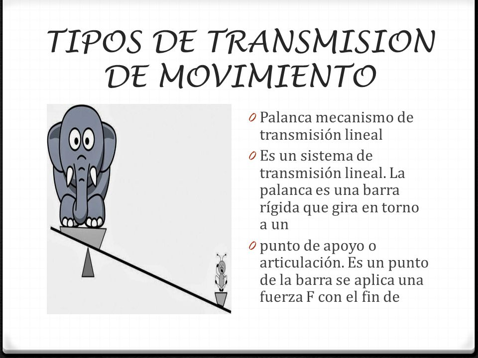 Mecanismos de transmision de movimientos ppt descargar - Tipos de sensores de movimiento ...