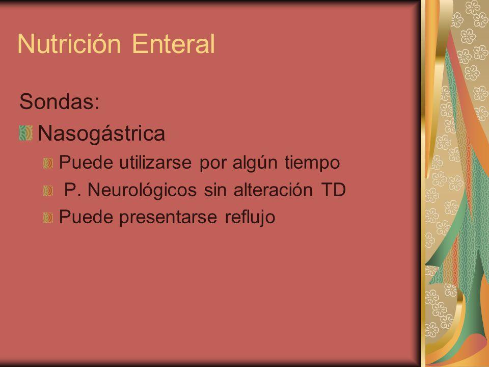Nutrición Enteral Sondas: Nasogástrica