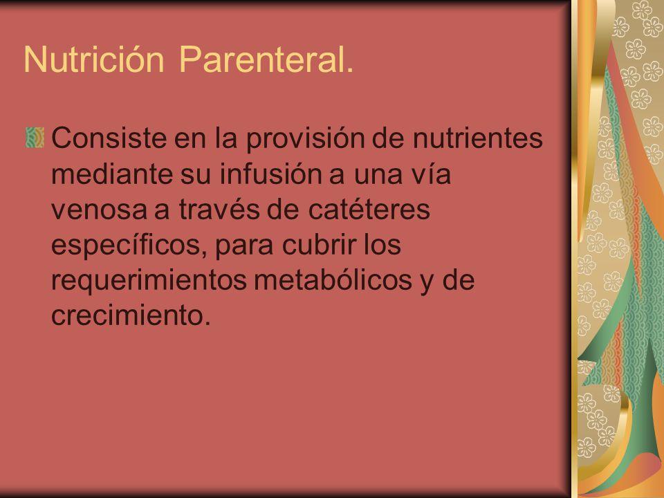 Nutrición Parenteral.