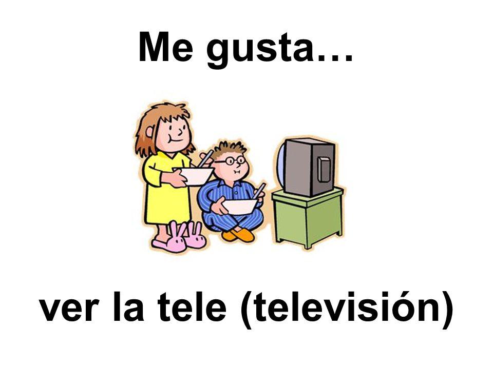 ver la tele (televisión)