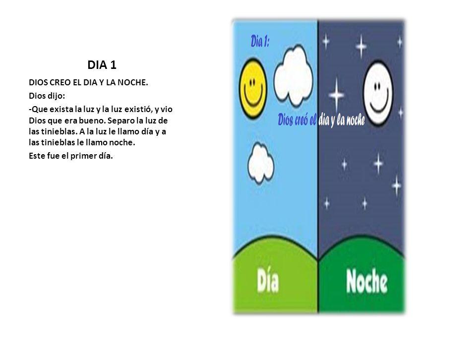 Dia 1 Dios Creo El Dia Y La Noche Dios Dijo Ppt Video Online