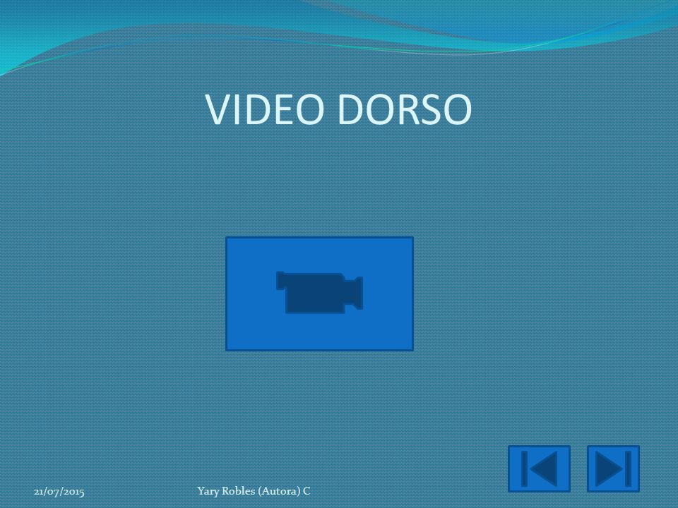 VIDEO DORSO 18/04/2017 Yary Robles (Autora) C