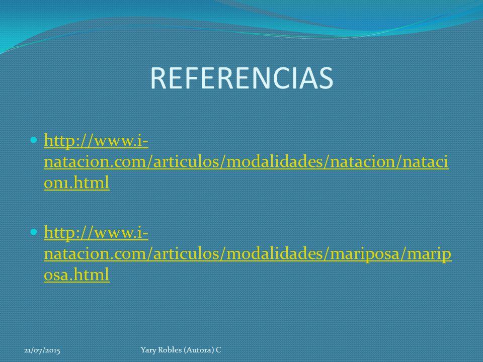 REFERENCIAS http://www.i-natacion.com/articulos/modalidades/natacion/natacion1.html.