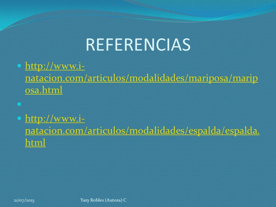 REFERENCIAS http://www.i-natacion.com/articulos/modalidades/mariposa/mariposa.html.