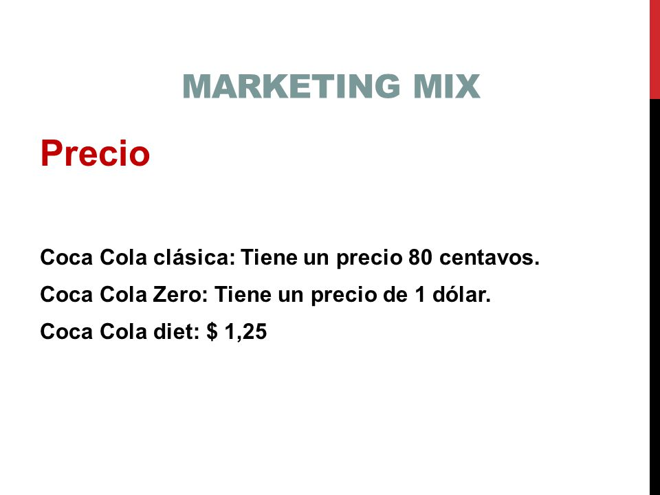 coca cola marketing mix essay Free essay: kccms - amsm product (category -soft drinks) coca-cola is the  leading provider of soft drinks in the world in 2010, it not only.
