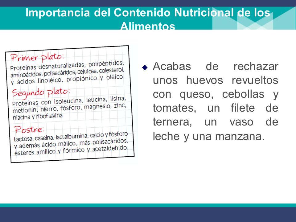 Docente ing mariliana videa fecha 13 de agosto de ppt descargar - Contenido nutricional de los alimentos ...