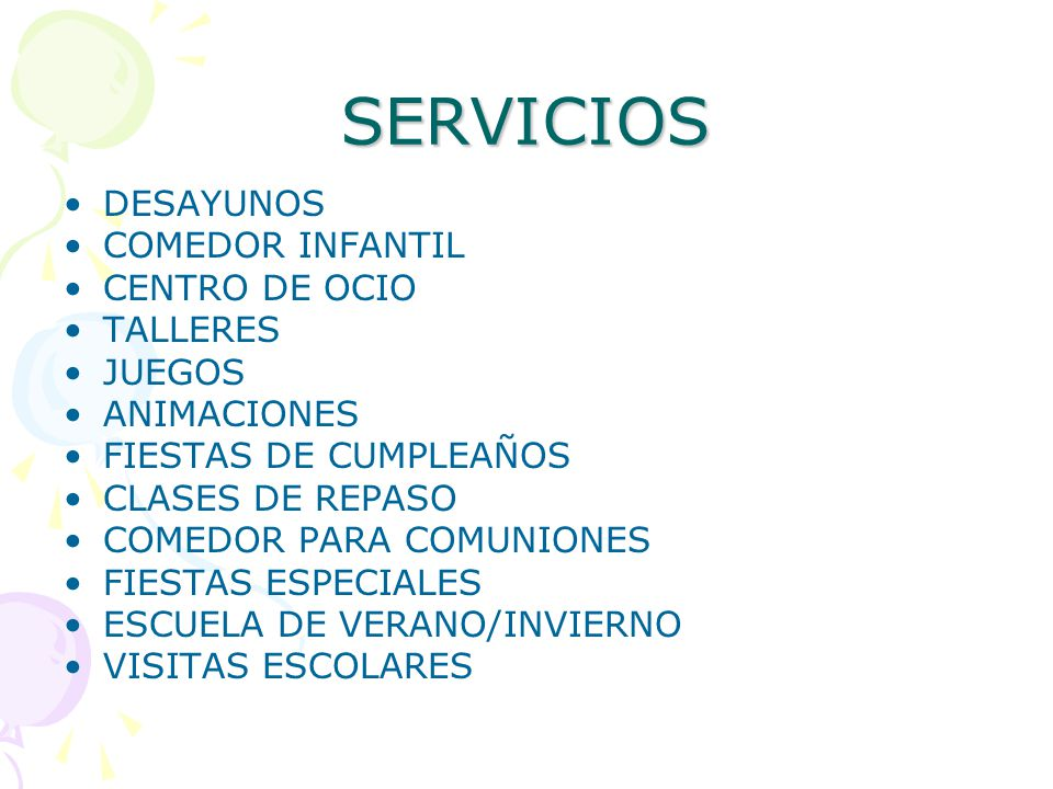 Ludoteca santiago calatrava ppt descargar - Servicios de comedor para empresas ...