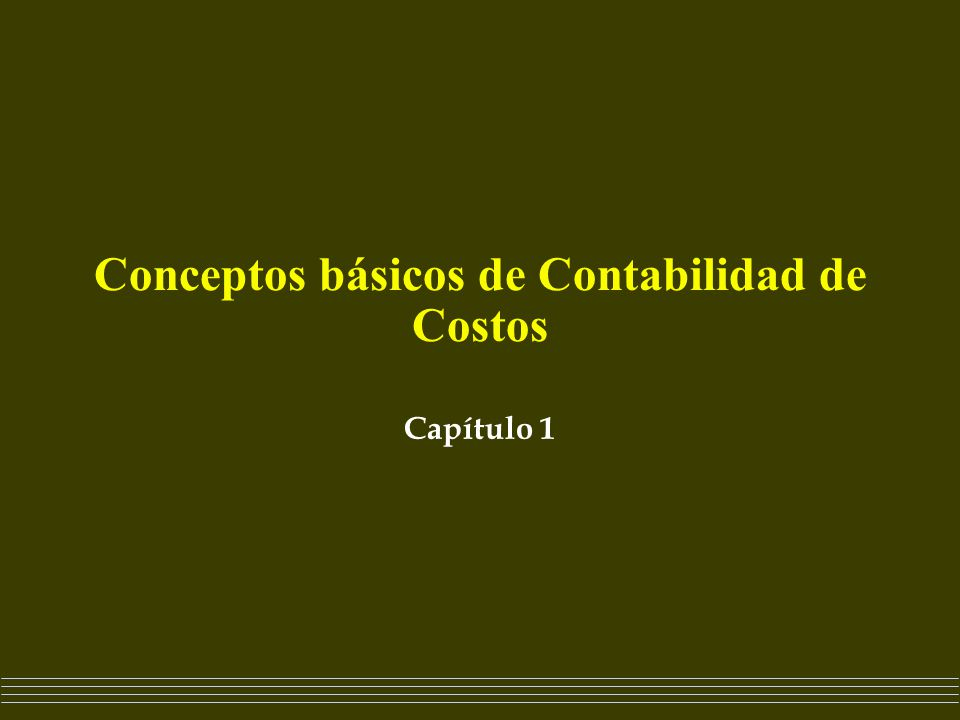 Conceptos B Sicos De Contabilidad De Costos
