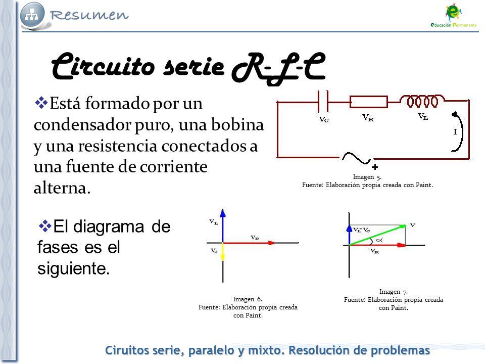 Voltaje Condensador Circuito Rlc Serie : Corriente alterna circuitos serie paralelo y mixto ppt