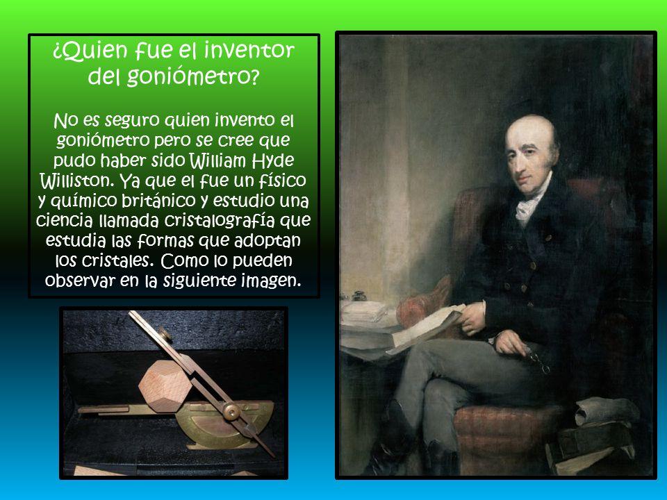 ¿Quien fue el inventor del goniómetro