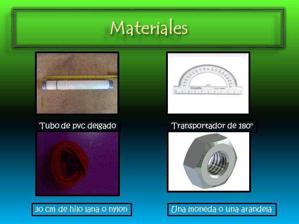 Materiales Tubo de pvc delgado Transportador de 180°