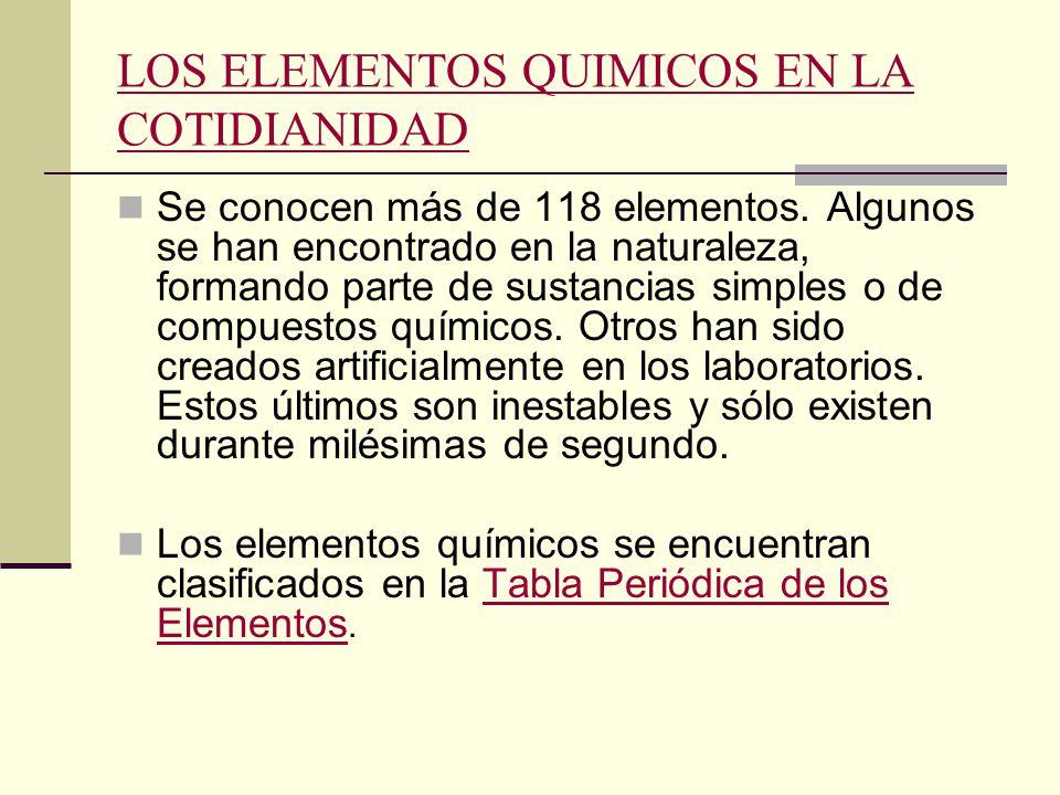 Elementos quimicos qumica general utn frlp ppt descargar los elementos quimicos en la cotidianidad urtaz Gallery