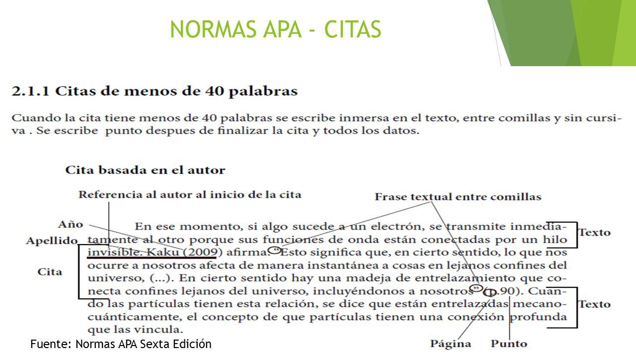 Apa Sexta Edicion En La Cita Del Sitio Web De Texto