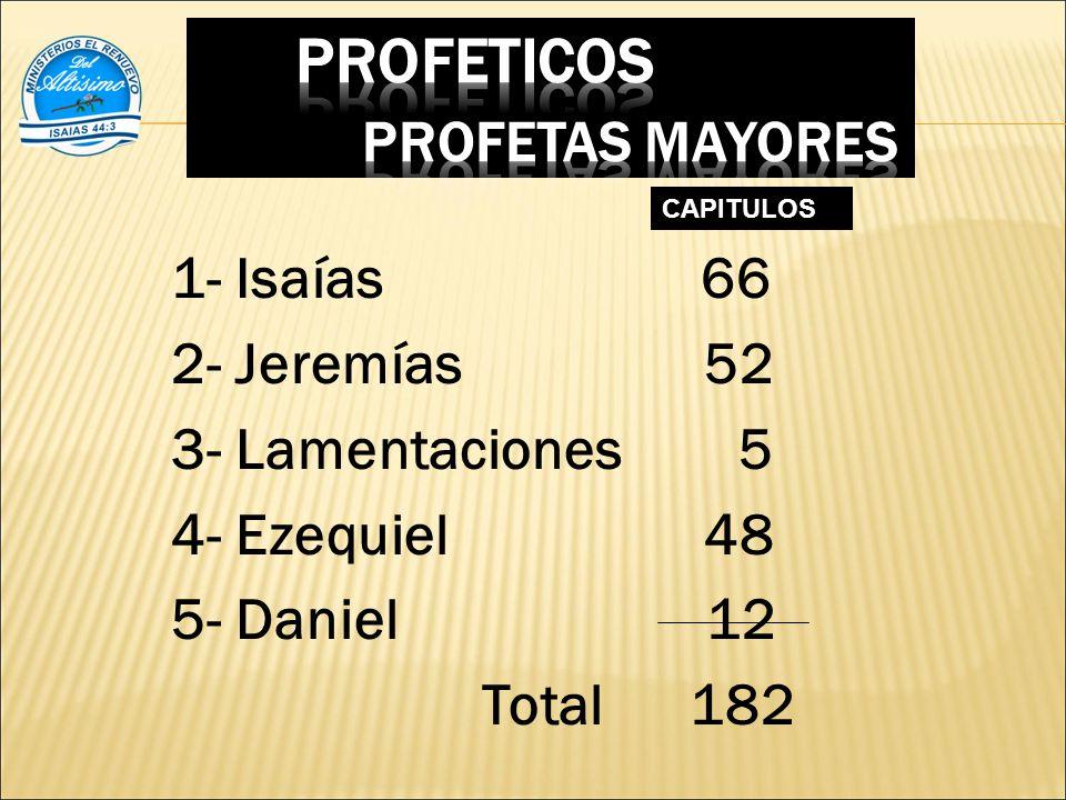 PROFETICOS PROFETAS MAYORES