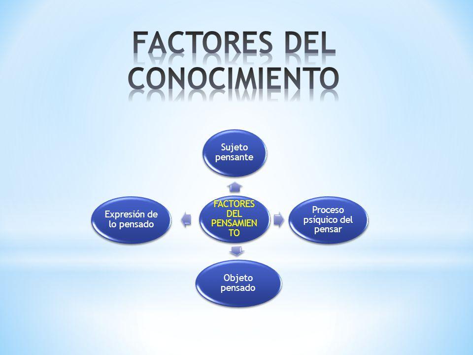 FACTORES DEL CONOCIMIENTO