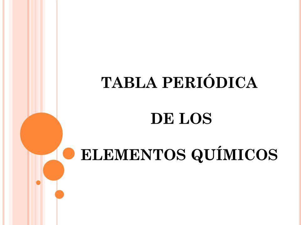 Tabla peridica de los elementos qumicos ppt video online descargar 1 tabla peridica de los elementos qumicos urtaz Choice Image