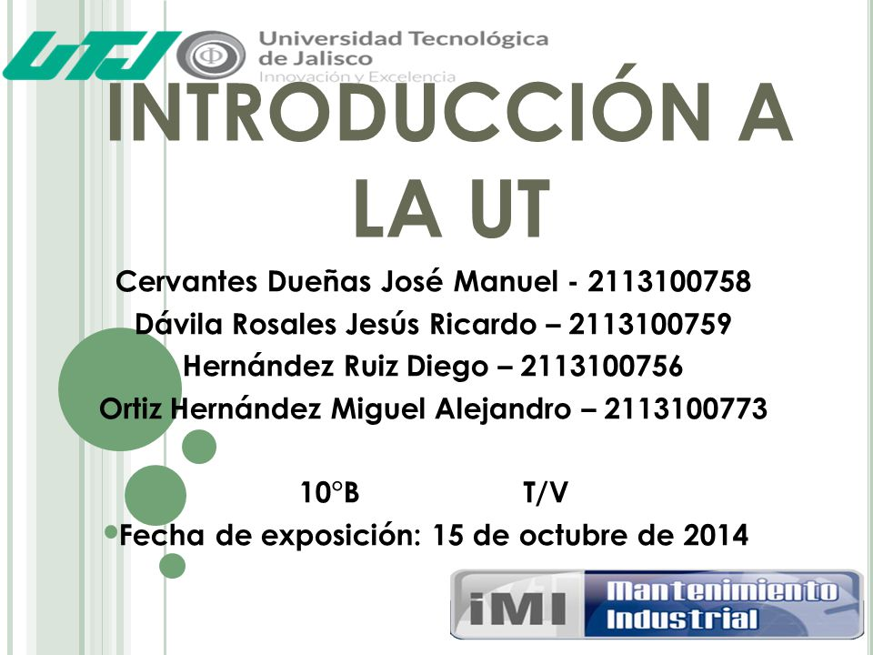 INTRODUCCIÓN A LA UT Cervantes Dueñas José Manuel - 2113100758