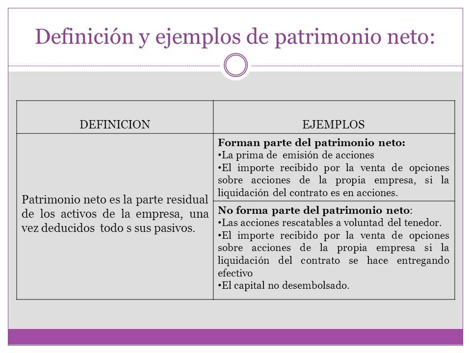 Definición y ejemplos de patrimonio neto: