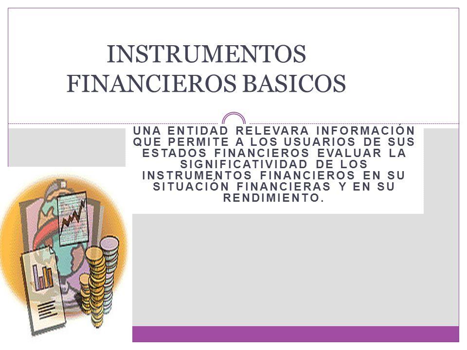 INSTRUMENTOS FINANCIEROS BASICOS