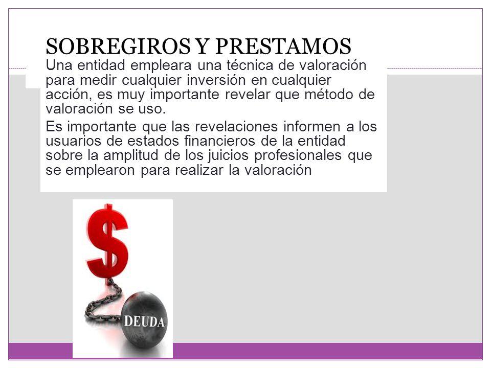 SOBREGIROS Y PRESTAMOS BANCARIOS