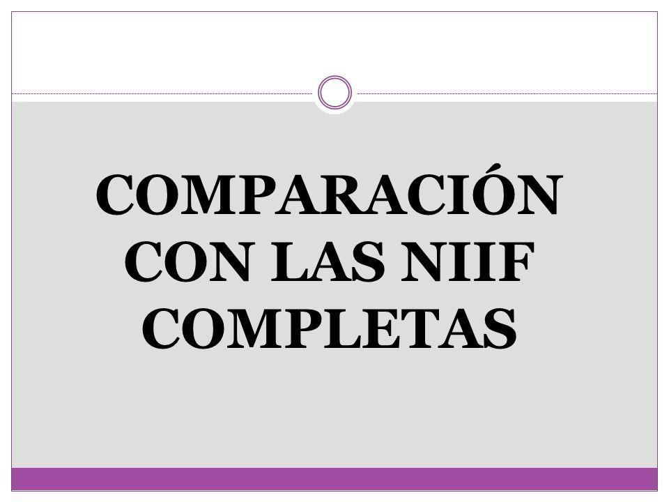 COMPARACIÓN CON LAS NIIF COMPLETAS