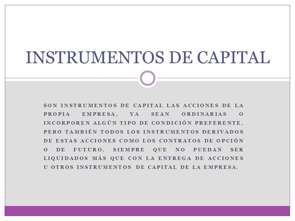 INSTRUMENTOS DE CAPITAL