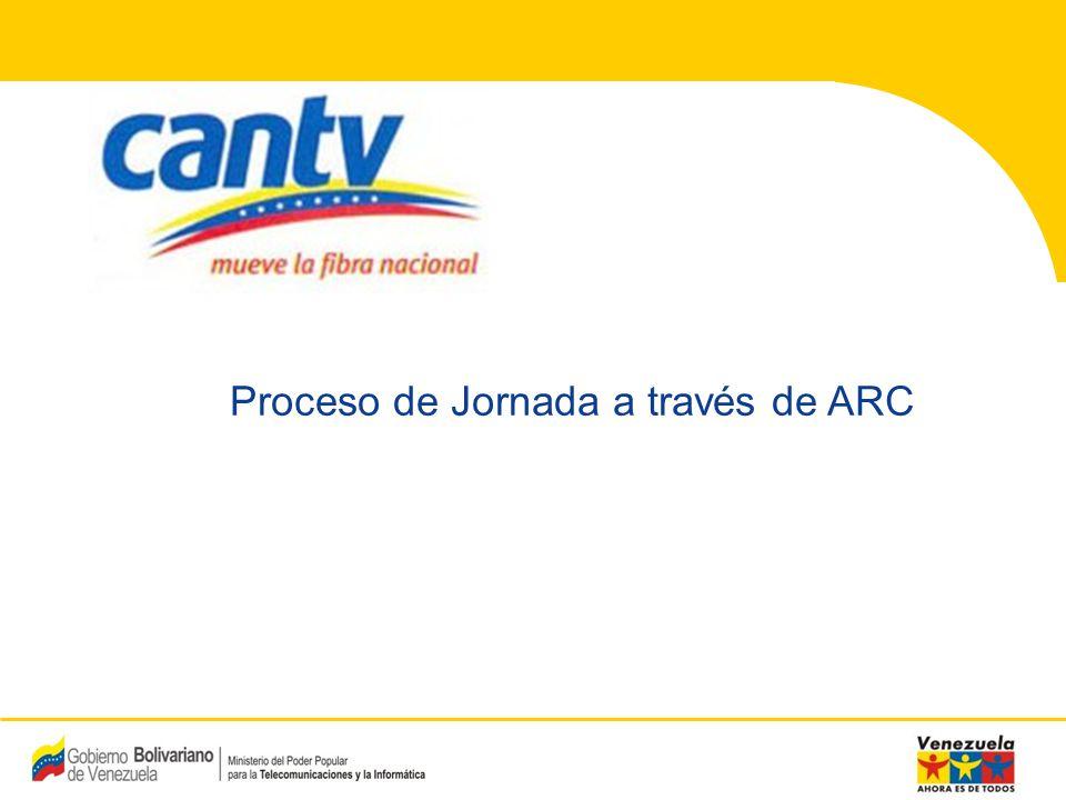 Proceso de Jornada a través de ARC